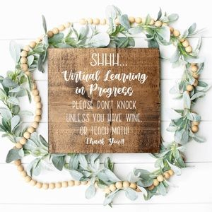 Virtual Learning Sign, E-Learning Door Hanger
